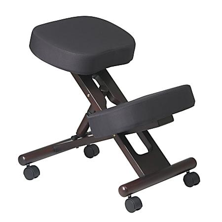 Office Star™ Work Smart Ergonomic Knee Chair, Black/Espresso