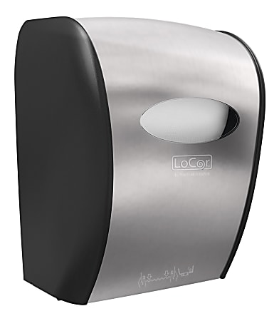 Solaris Paper® LoCor® Wall-Mount Mechanical Paper Towel Dispenser, Stainless