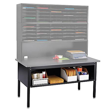 "Safco® E-Z Sort® Mailroom Furniture, Sorting Table, 28""H x 60""W x 30""D, Black"