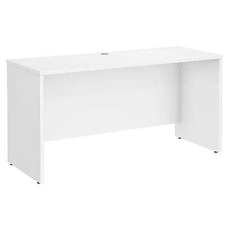 """Bush Business Furniture Studio C Credenza Desk, 60""""W x 24""""D, White, Standard Delivery"""