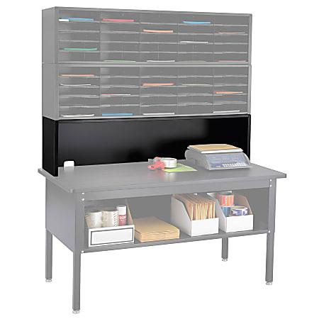 "Safco® E-Z Sort® Mailroom Furniture, Riser, 14""H x 57 1/2""W x 13""D, Black"