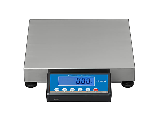 """Brecknell® PS-USB Shipping Scale, 16""""H x 14""""W x 3 3/16""""D, 150-Lb Capacity, Gray"""