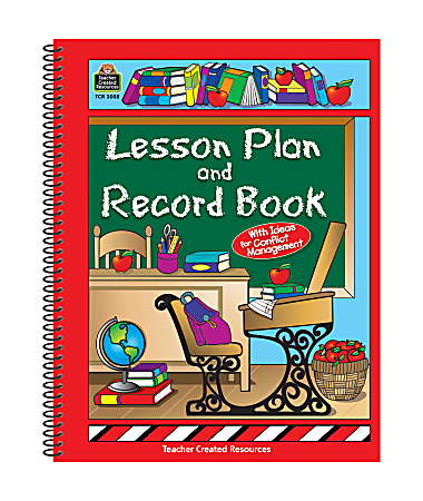 Teacher Created Resources Lesson Plan And Record Books, Pack Of 2