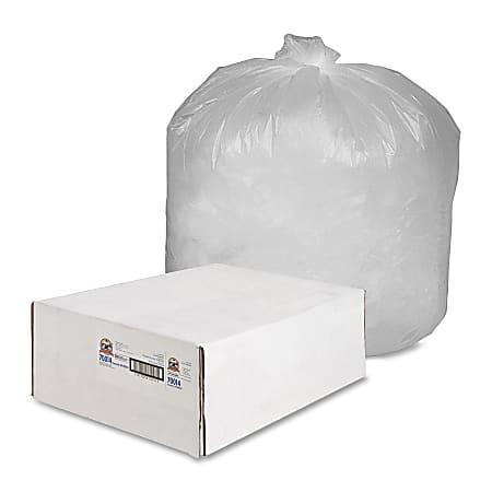 Genuine Joe Economy High-Density Can Liners, 55-60 Gallon, Translucent, Carton Of 200