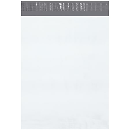 "Office Depot® Brand 12"" x 15-1/2"" Poly Mailers, White, Case Of 500 Mailers"