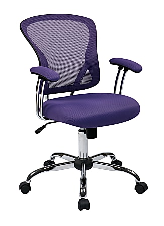 Office Star™ Avenue Six Juliana Mesh Task Chair, Purple/Silver