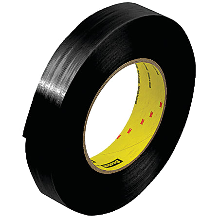 "Scotch® 890MSR Strapping Tape, 3"" Core, 1"" x 60 Yd., Black, Case Of 12"