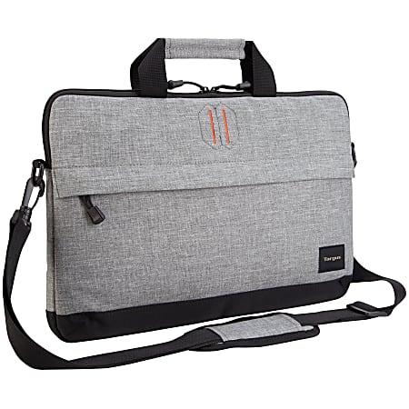 """Targus® Strata Slip Case Sleeve For 15.6"""" Laptops, Pewter"""