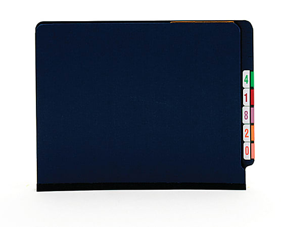 [IN]PLACE® Classification Folders, Letter Size, 2 Dividers, 30% Recycled, 2 Fasteners, Dark Blue, Box Of 10