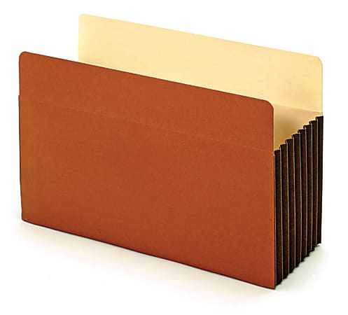 """Office Depot® Brand File Pockets With Tyvek® Gussets, 7"""" Expansion, Legal Size, Brown, Box Of 5 File Pockets"""
