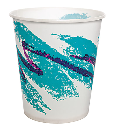 Solo® Jazz Waxed Paper Cold Cups, Tide Design, 5 Oz, Case Of 3,000