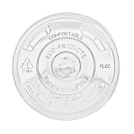 Eco-Products GreenStripe Renewable Resource Compostable Cold Cup Lids, Pack Of 1,000
