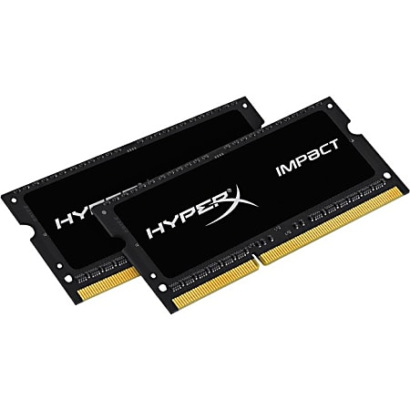 HyperX Impact 16GB DDR3 SDRAM Memory Module - For Notebook - 16 GB (2 x 8 GB) - DDR3-1600/PC3-12800 DDR3 SDRAM - CL9 - 1.35 V - Non-ECC - Unbuffered - 204-pin - SoDIMM