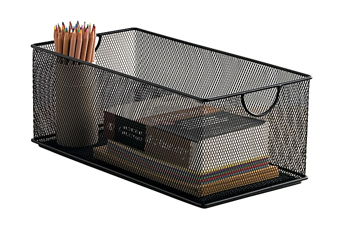 Neat Life Mesh Standard-Duty Storage Box, Black