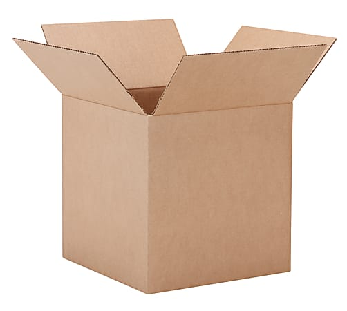 """Office Depot® Brand Corrugated Boxes, 16"""" x 16"""" x 16"""", 40% Recycled, Kraft"""