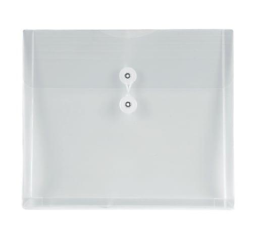 Office Depot® Brand Poly String Envelopes, Letter, Clear, Pack of 5