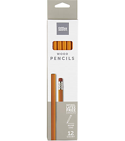 Office Depot® Brand Wood Pencils, #2 Lead, Medium, Pack of 12