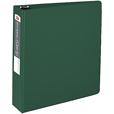 """Office Depot® Brand Reference 3-Ring Binder, 2"""" Round Rings, 49% Recycled, Dark Green"""