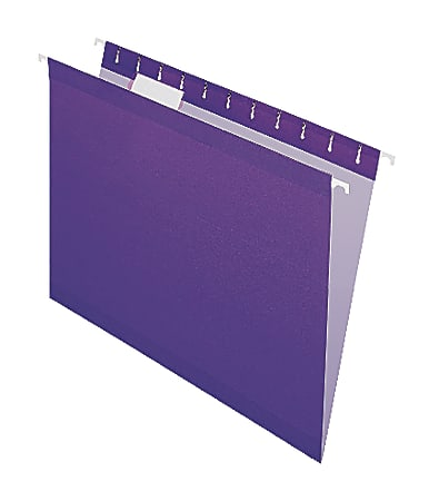 Office Depot® Brand Hanging Folders, Letter Size, 1/5 Tab Cut, Violet, Box Of 25