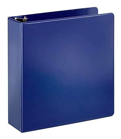"""Office Depot® Brand Durable 3-Ring Binder, 3"""" D-Rings, 43% Recycled, Blue"""