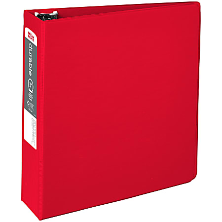 """Office Depot® Brand Nonstick 3-Ring Binder, 3"""" Round Rings, 49% Recycled, Red"""