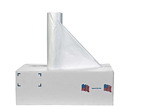 """Noramco 10 Micron High-Density Liners, 30 Gallons, 30"""" x 37"""", Clear, Pack Of 500"""