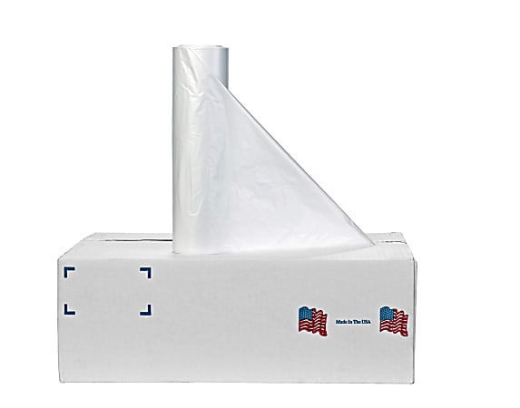 Noramco High-Density Liners, 12 - 16 Gallons, 6 Microns, Clear, Roll Of 1,000