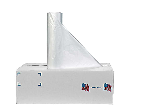 Noramco Linear Low-Density Liners, 55 Gallons, 1.1 Mil, Clear, Roll Of 100