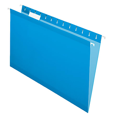 """Office Depot® Brand Hanging Folders, 15 3/4"""" x 9 3/8"""", Legal Size, Blue, Box Of 25"""