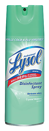 Lysol® Ready-To-Use Disinfectant Spray, Crystal Waters Scent, 12.5 Oz Bottle, Case Of 12