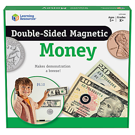 Learning Resources® Double-Sided Magnetic Money Set, Grades Pre-K - 8