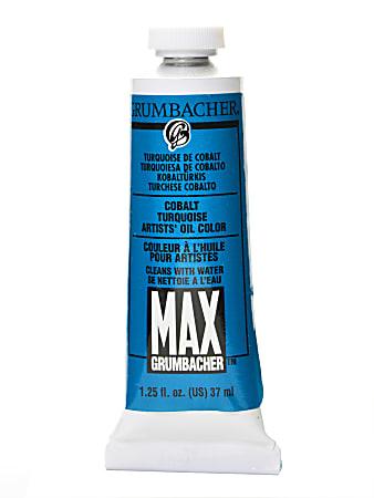 Grumbacher Max Water Miscible Oil Colors, 1.25 Oz, Cobalt Turquoise