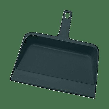 "Genuine Joe Heavy-duty Plastic Dust Pan, 12"" x 32"", Black"