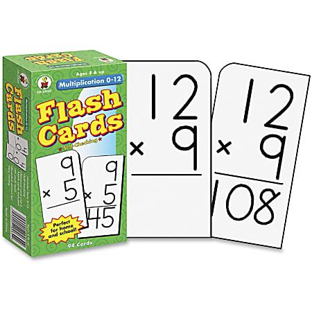 Carson-Dellosa Flash Cards — Multiplication 0-12