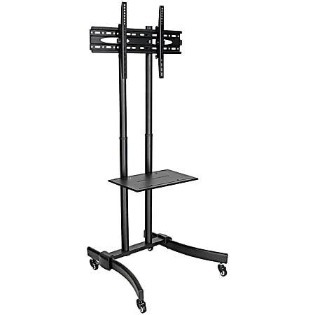 """Tripp Lite TV Mobile Flat-Panel Floor Stand Cart Height Adjustable LCD- 37"""" to 70"""" TVs and Monitors - Up to 70"""" Screen Support - 88 lb Load Capacity - 1 x Shelf"""