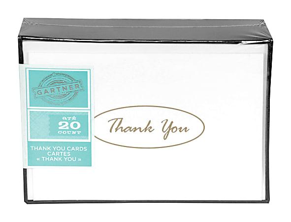 Gartner™ Studios Thank You Cards, Gold, Pack Of 20