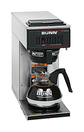 Bunn 12-Cup Pourover Brewer, Stainless Steel