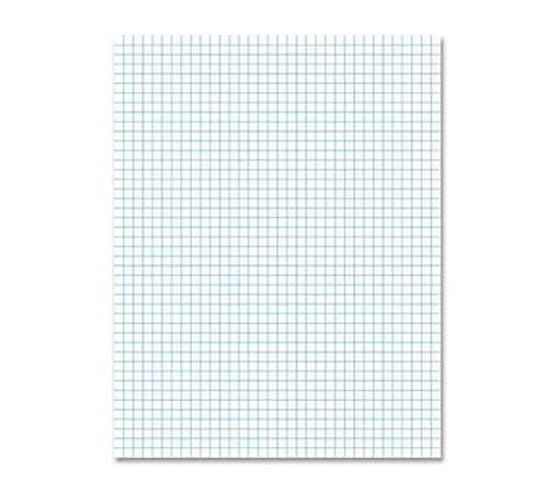 "Ampad® 2-Sided Pad, 8 1/2"" x 11"", Quadrille Ruled, 100 Pages (50 Sheets), White"
