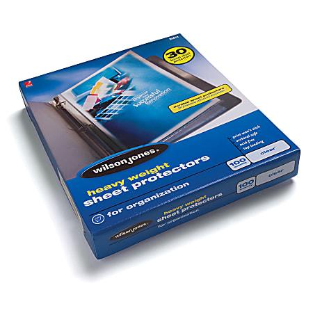 Wilson Jones® Top-Loading Sheet Protectors, Heavyweight, Diamond Clear, Box Of 100
