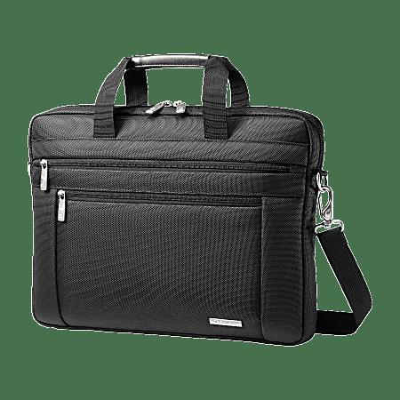 """Samsonite® Classic Laptop Computer Slim Briefcase, 12"""" x 16"""" x 2"""", Black"""