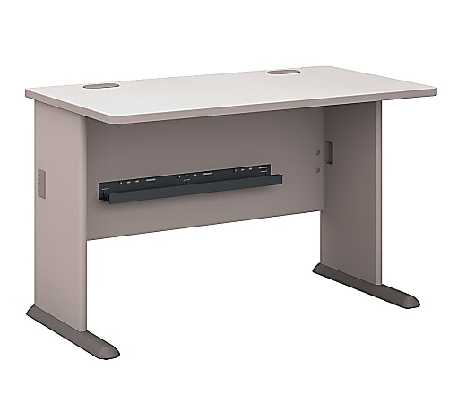 "Bush Business Furniture Office Advantage Desk 48""W, Pewter, Standard Delivery"