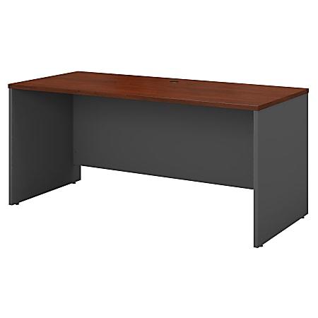 """Bush Business Furniture Components Credenza Desk 60""""W x 24""""D, Hansen Cherry/Graphite Gray, Standard Delivery"""