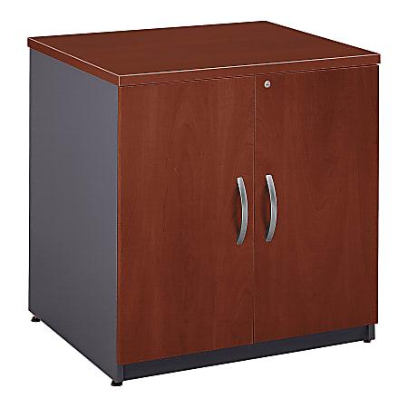 "Bush Business Furniture Components Storage Cabinet, 30""W, Hansen Cherry/Graphite Gray, Standard Delivery"