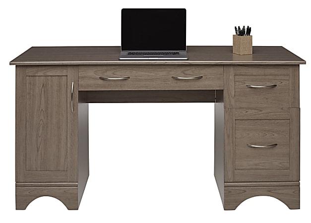 "Realspace Pelingo 60""W Computer Desk, Gray"
