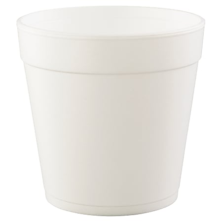Dart Foam Food Containers, 32 Oz, White, 25 Containers Per Bag, Carton Of 20 Bags