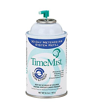 TimeMist® Premium Metered Air Freshener Refills, 6.6 Oz, Clean & Fresh, Carton of 12 Units