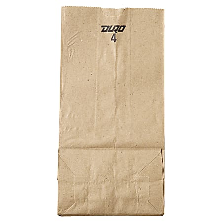 """General Supply Natural Paper Grocery Bags, #4, 30 Lb, 9 3/4"""" x 5"""" x 3 1/3"""", Kraft, Case Of 500"""