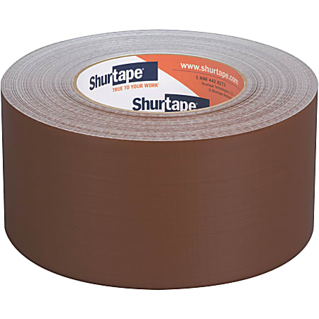 """Shurtape PC 618C Performance-Grade Cloth Duct Tape Roll, 2.83"""" x 60 Yd, Brown"""