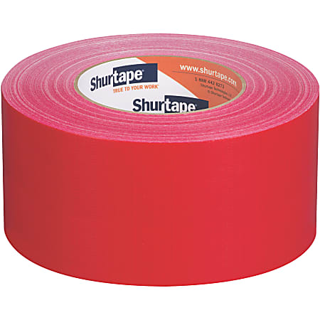 """Shurtape PC 618C Performance-Grade Cloth Duct Tape Roll, 2.83"""" x 60 Yd, Red"""