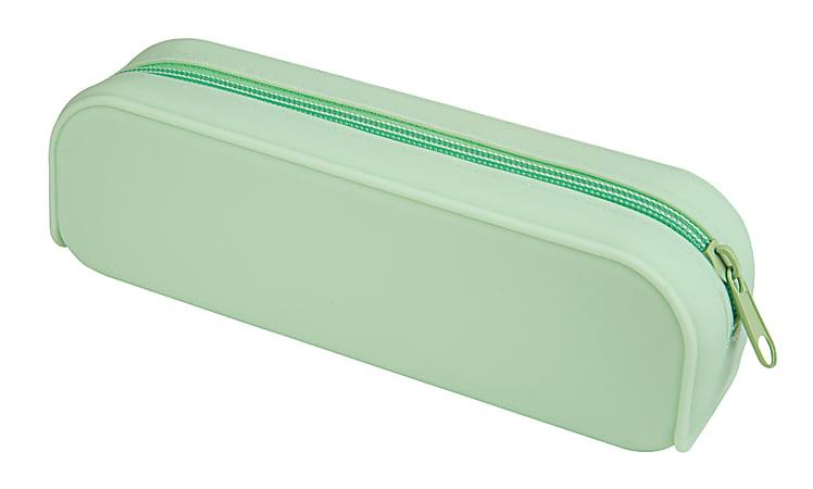 "Divoga™ Tubular Silicone Pencil Pouch, 8""H x 2""W x 2 1/2""D, Mint"